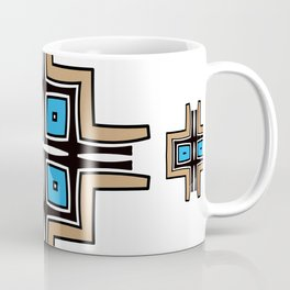 aztec cross mandala Coffee Mug
