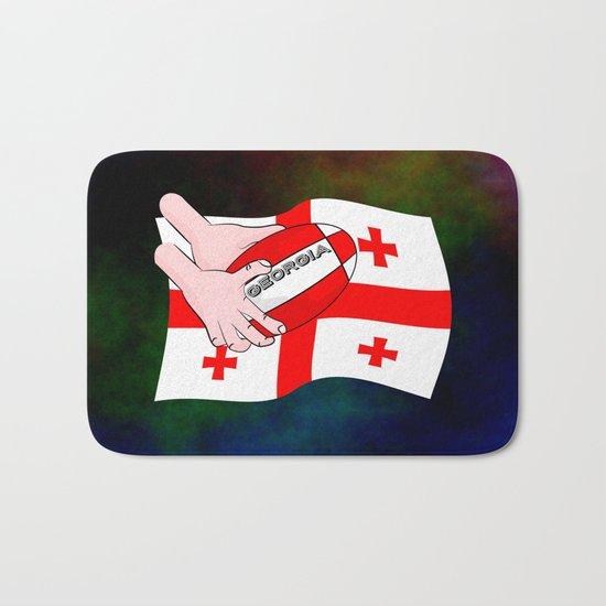 Rugby Georgia Flag Bath Mat