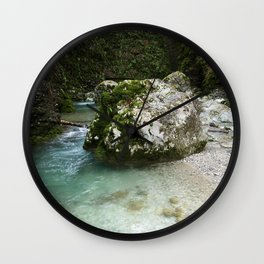 Soca River Gorge Wall Clock