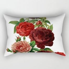 Vintage & Shabby Chic - Red Roses Rectangular Pillow