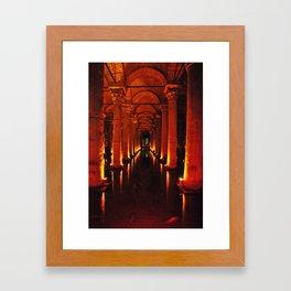 Istanbul Cistern  Framed Art Print