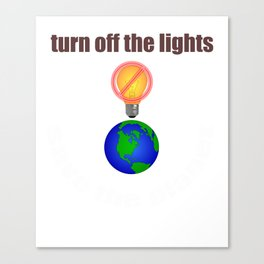 turn off the lights Canvas Print