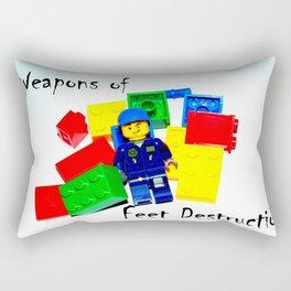 Feet on the Front Line Rectangular Pillow