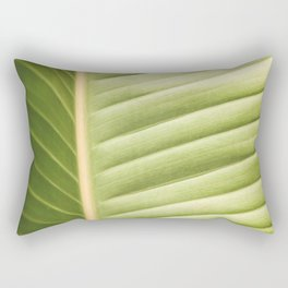 Retro Palm Leaf Abstract Rectangular Pillow