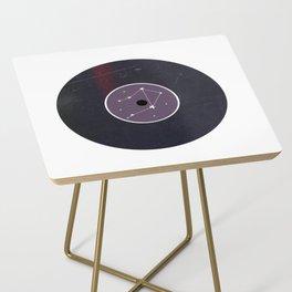 Vinyl Record Star Sign Art | Libra Side Table