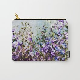 Floral Garden Impressionism in Pretty Purple Carry-All Pouch