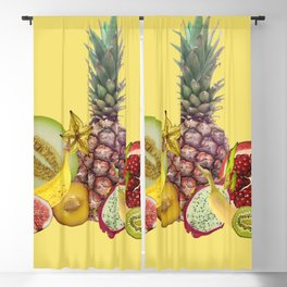 fresh Fruits summer Selection - yellow Blackout Curtain