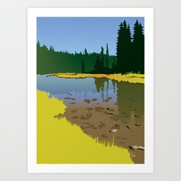 Junction Lake Art Print