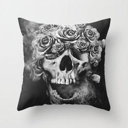 SKULL & ROSES I Throw Pillow