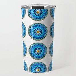Blue Rose Mandala Travel Mug