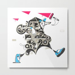 Careless vandal Metal Print