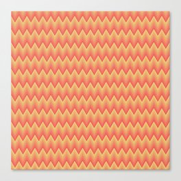 Simple chevron pattern shaded from brilliant orange to yellow Canvas Print
