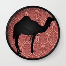 Art deco camel Wall Clock