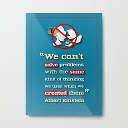 Einstein on Problem Solving Metal Print