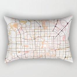 Beijing Street Map Art Watercolor Color Rectangular Pillow