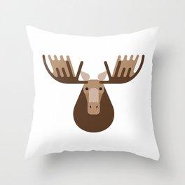 Minimalistic wildlife 16 – Elk Throw Pillow
