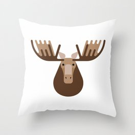 Minimalistic wildlife 16 – Elk Throw Pillow