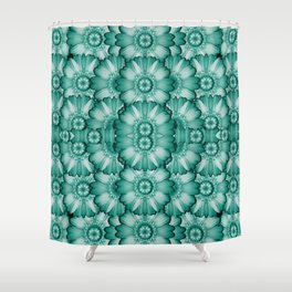 Sea and florals in deep love Shower Curtain