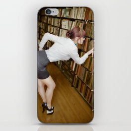 """Research"" - The Playful Pinup - Sexy Librarian Pin-up Girl by Maxwell H. Johnson iPhone Skin"
