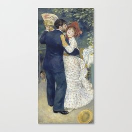 Dance in the Country by Pierre-Auguste Renoir Canvas Print