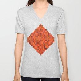 Tangerine Tiles Unisex V-Neck