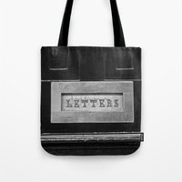 letters Tote Bags featuring Letters by Shy Photog