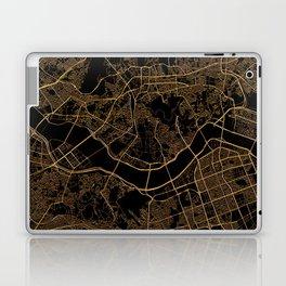 Black and gold Seoul map Laptop & iPad Skin