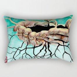 Root Hands Rectangular Pillow