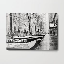 Christmas time in Chicago Metal Print