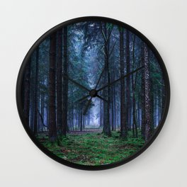 Green Magic Forest - Landscape Nature Photography Wall Clock