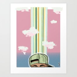 Thinking Cap by SHAKA Art Print