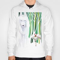 princess mononoke Hoodies featuring Princess Mononoke by youcoucou
