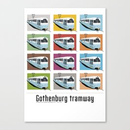 Gothenburg tramway Canvas Print