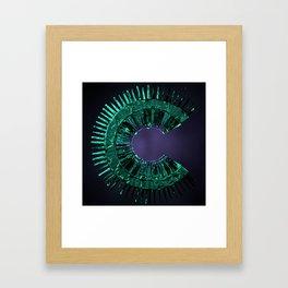Letter Series: C Framed Art Print