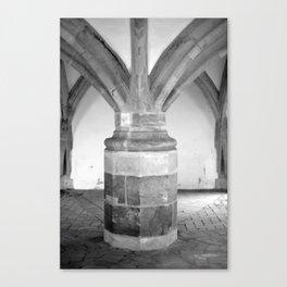 Church pillars St.Aegidienkirche Oschatz Canvas Print