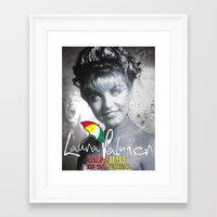 laura palmer Framed Art Prints featuring Laura Palmer Half & Half by Adam Hunter