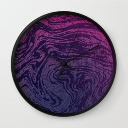 Ultra Violet Marbeling Wall Clock