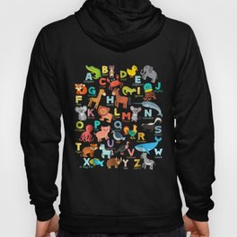Alphabet Animal Abcs Learning Shirt For Boys Girls Adults Hoody