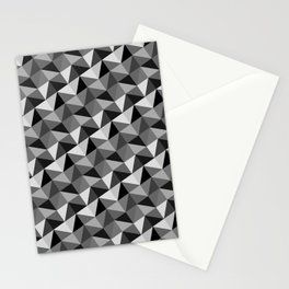 Pattern of triangles in gray shades Stationery Cards