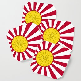 Japanese Flag And Inperial Seal Coaster