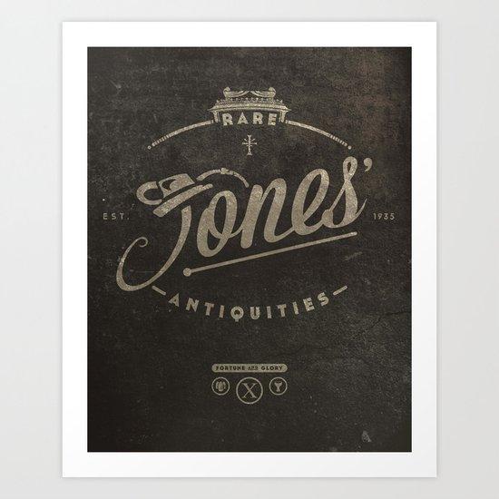 """Jones' Rare Antiquities"" - wall version Art Print"