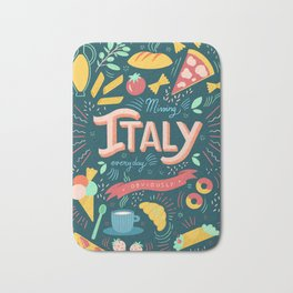 Missing Italy everyday poster Bath Mat