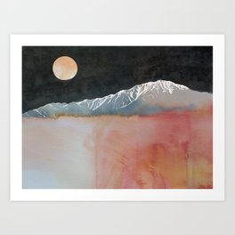 Full Moon Over Mt San Jacinto Art Print