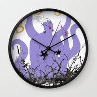 boss Wall Clocks featuring Boss by Hillary J. Murphy