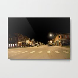 Gold Rush Era Town - Silverton at Night Metal Print