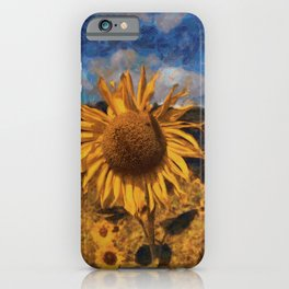 Sunflower in style of Vincent van Gogh iPhone Case