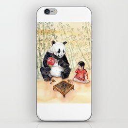 Playing Go with Panda iPhone Skin