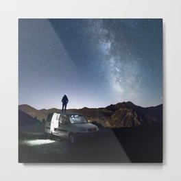 Roadtrip night Metal Print