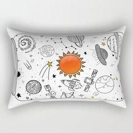 lockep up the space Rectangular Pillow