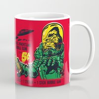 50s Mugs featuring BEASTWRECK ATTACKS! by BeastWreck